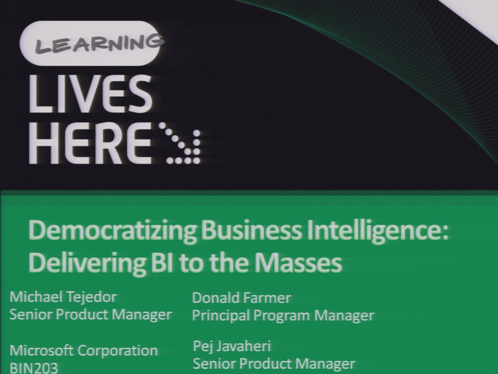 Democratizing Business Intelligence: Delivering BI to the Masses