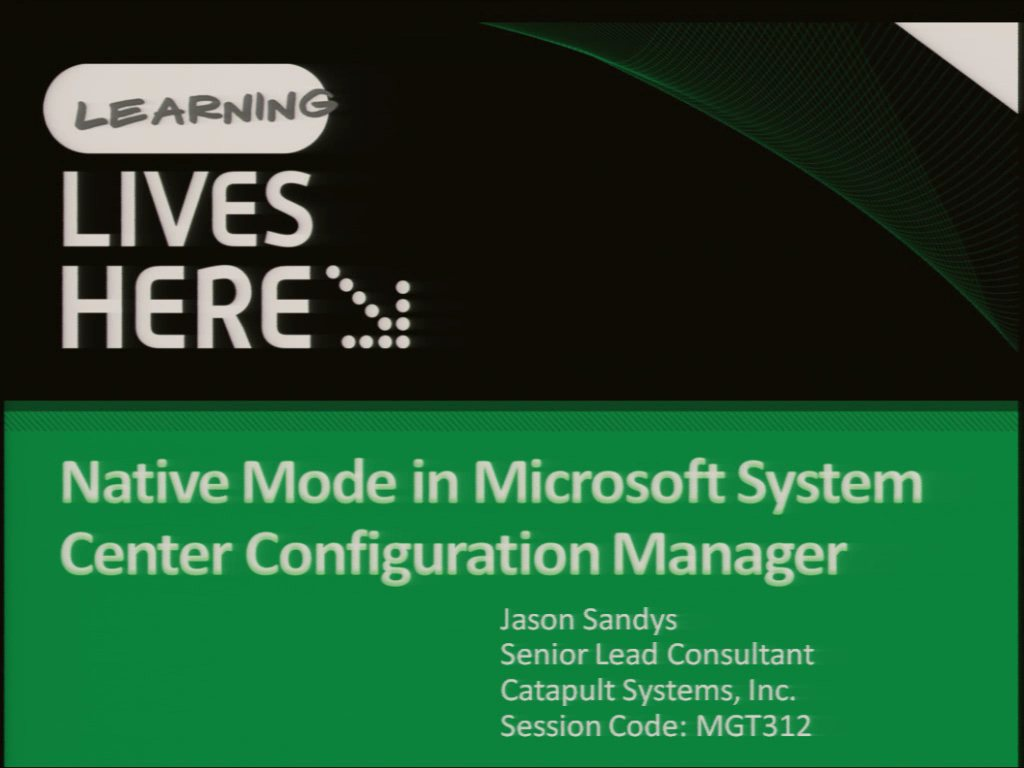 Native Mode in Microsoft System Center Configuration Manager