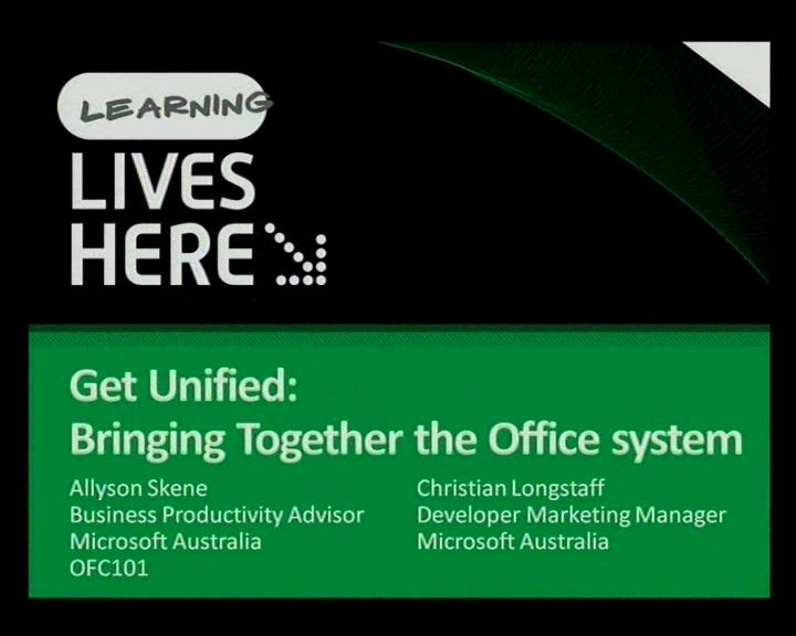 Get Unified! Bringing together the Office System