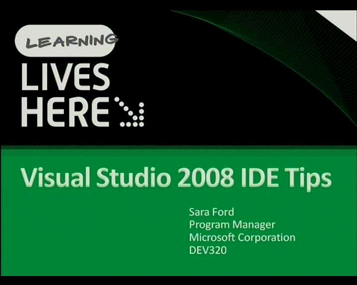 Visual Studio 2008 IDE Tips
