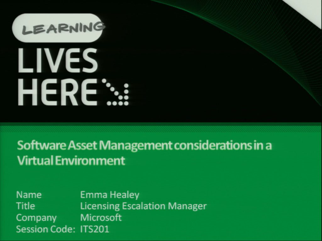 Software Asset Management in a Virtual Environment