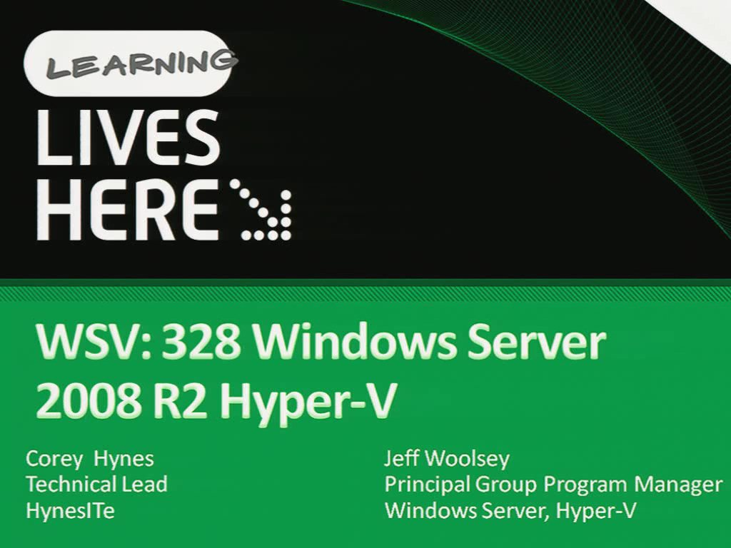Windows Server 2008 R2: Hyper-V