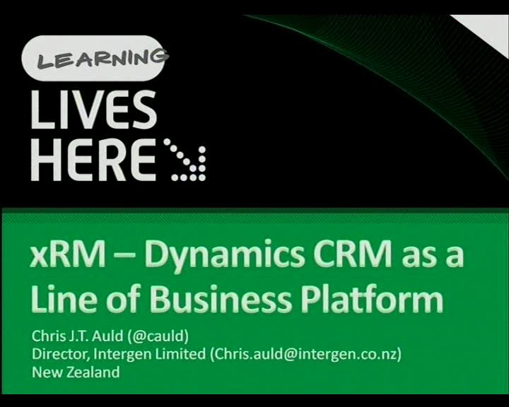 Dyanmics CRM and a Line of Business Platform