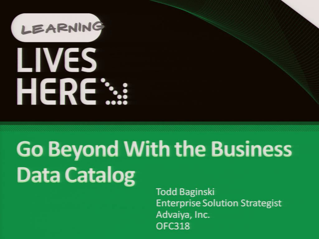 Go Beyond with the Business Data Catalog