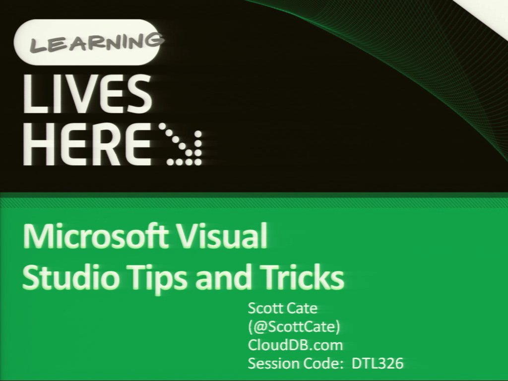 Microsoft Visual Studio Tips and Tricks