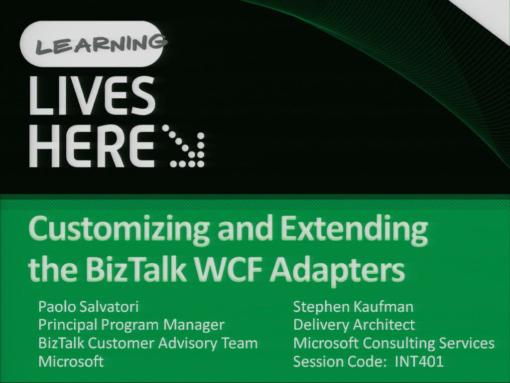 Customising and Extending the WCF Adapters in Microsoft BizTalk Server