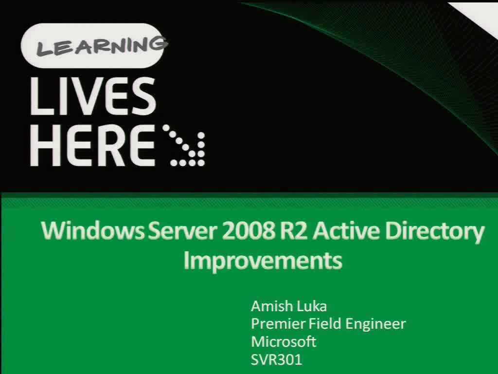 Windows Server 2008 R2 Active Directory Improvements