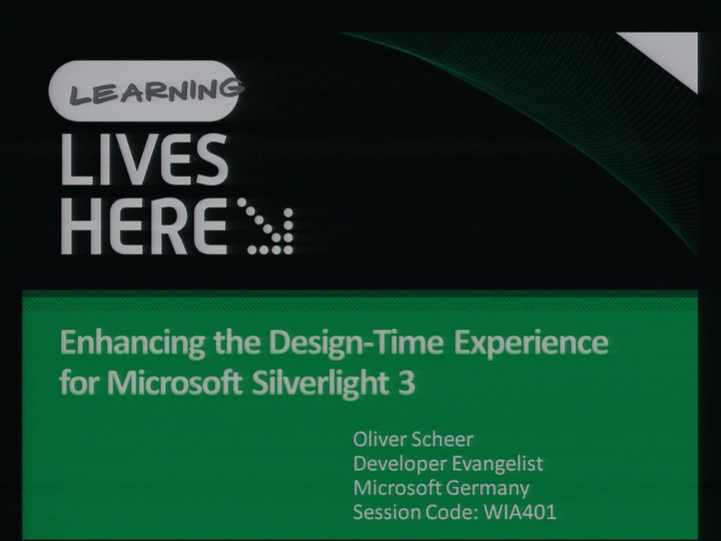 Enhancing the Design-Time Experience for Microsoft Silverlight 3