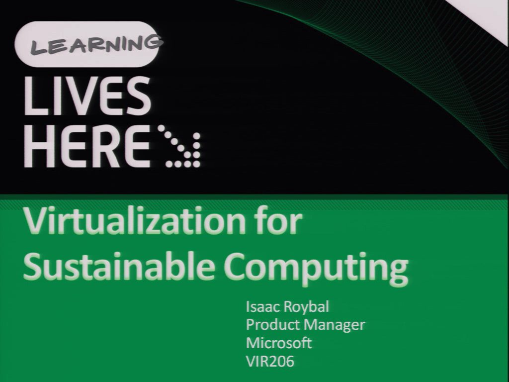 Virtualization for Sustainable Computing