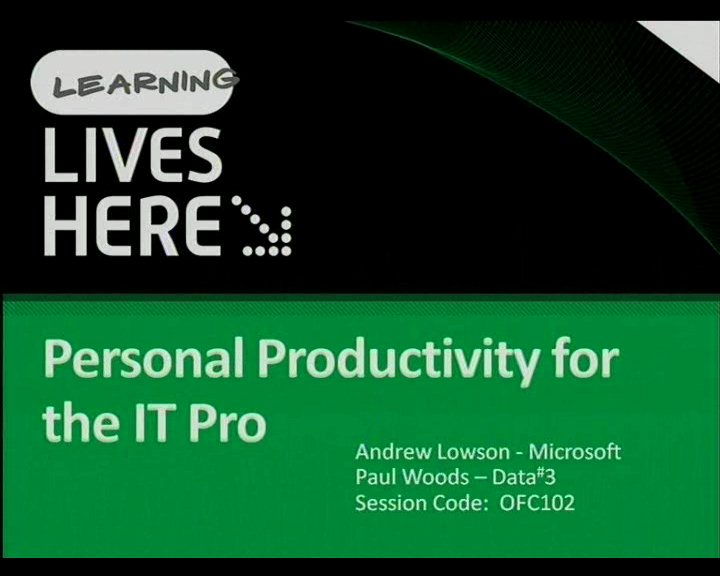 Personal Productivity for the IT Pro