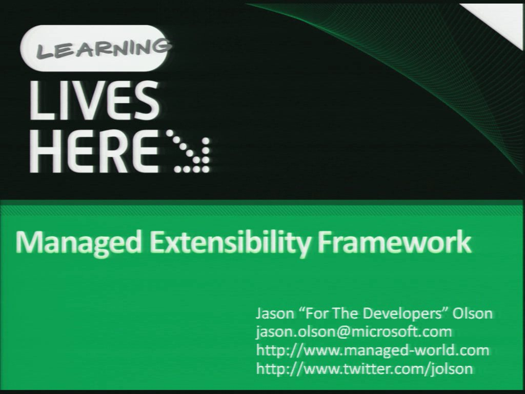 Open Up Your Applications with the Managed Extensibility Framework