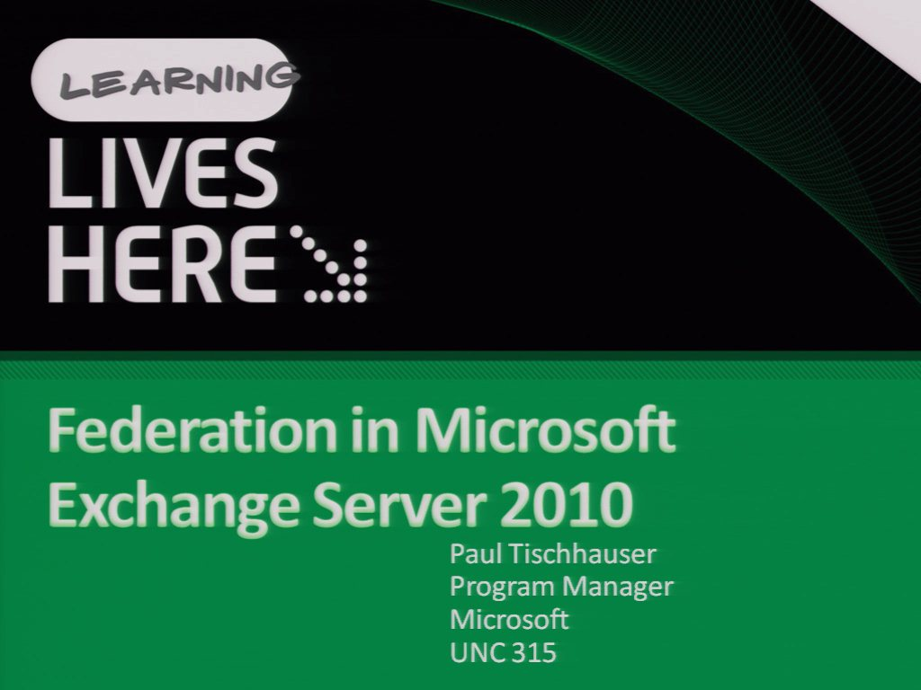 Federation in Microsoft Exchange Server 2010