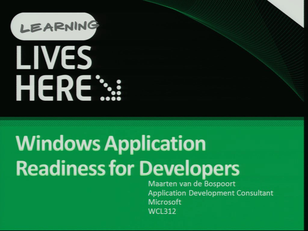 Windows Application Readiness for Developers