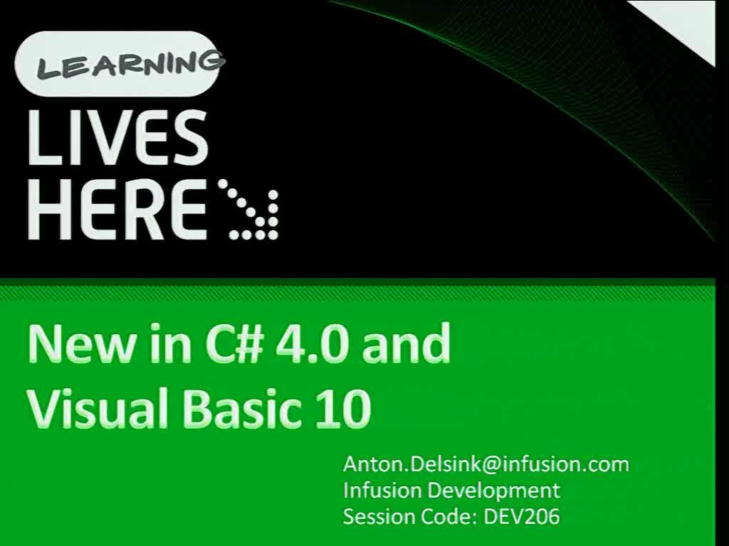 New in C# and Visual Basic for 2010