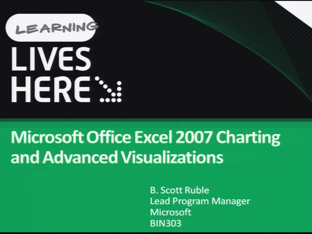 Microsoft Office Excel 2007 Charting and Advanced Visualizations
