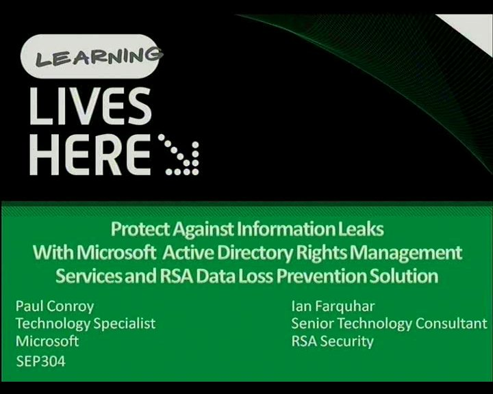 Protect Against Information Leaks with Microsoft Active Directory Rights Management Services and RSA Data Loss Prevention Solutions