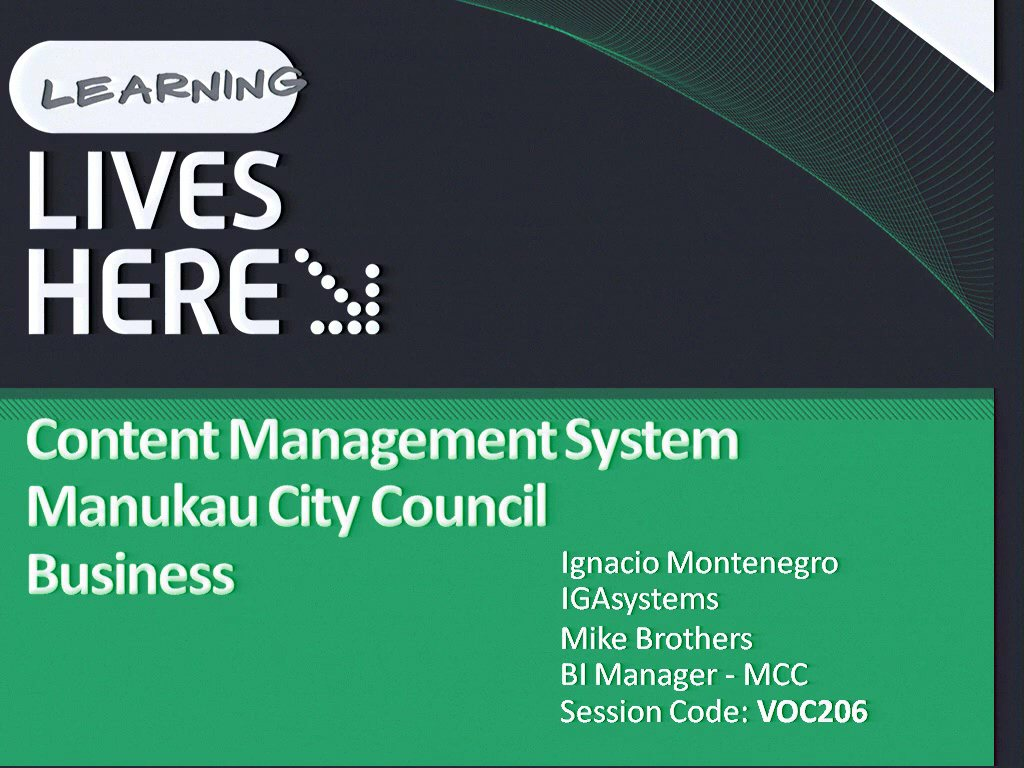 Content and Enterprise Performance Management at the Manukau City Council