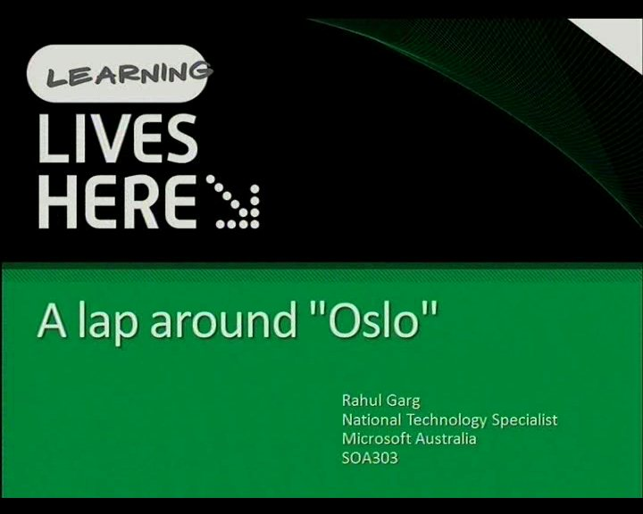 "A Lap around Microsoft Code Name ""Oslo"""