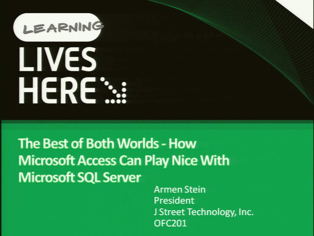 Best of Both Worlds: How Microsoft Office Access Can Play Nice with Microsoft SQL Server