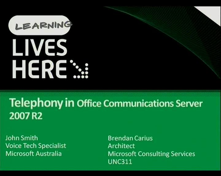 Telephony in OCS R2