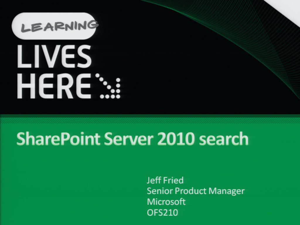 Search in Microsoft SharePoint Server 2010