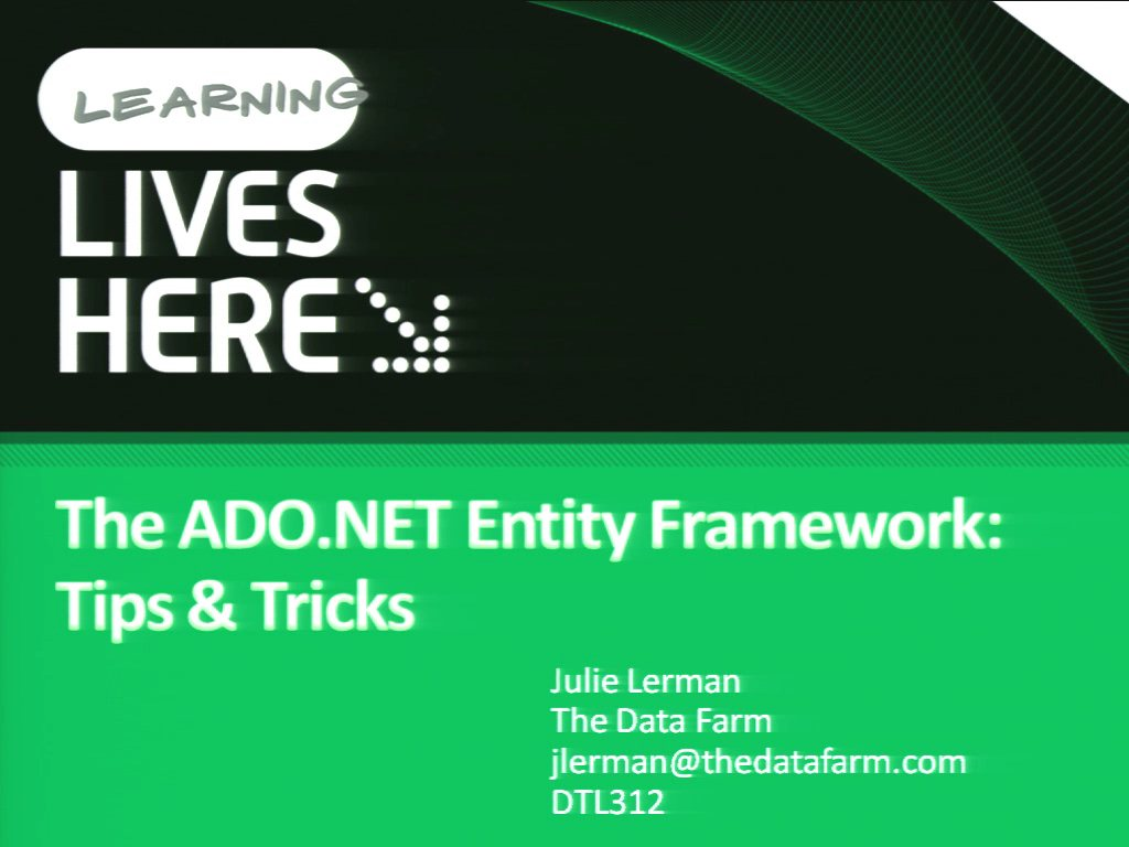 The ADO.NET Entity Framework: Tips and Tricks