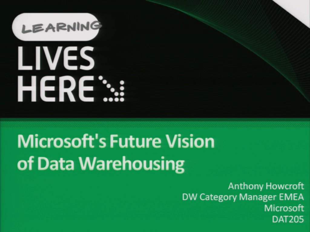 Microsoft's Vision for Data Warehousing