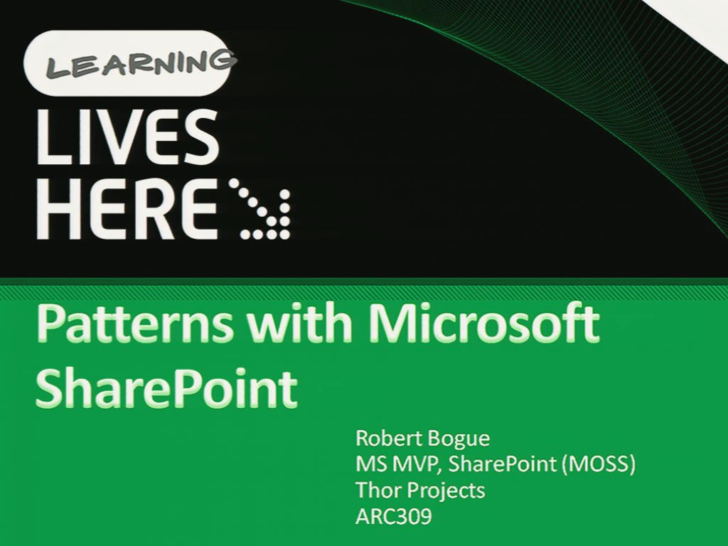 Patterns with Microsoft SharePoint