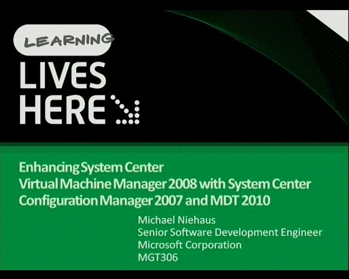 Extending System Center Virtual Machine Manager with System Center Configuration Manager 2007 and MDT 2010