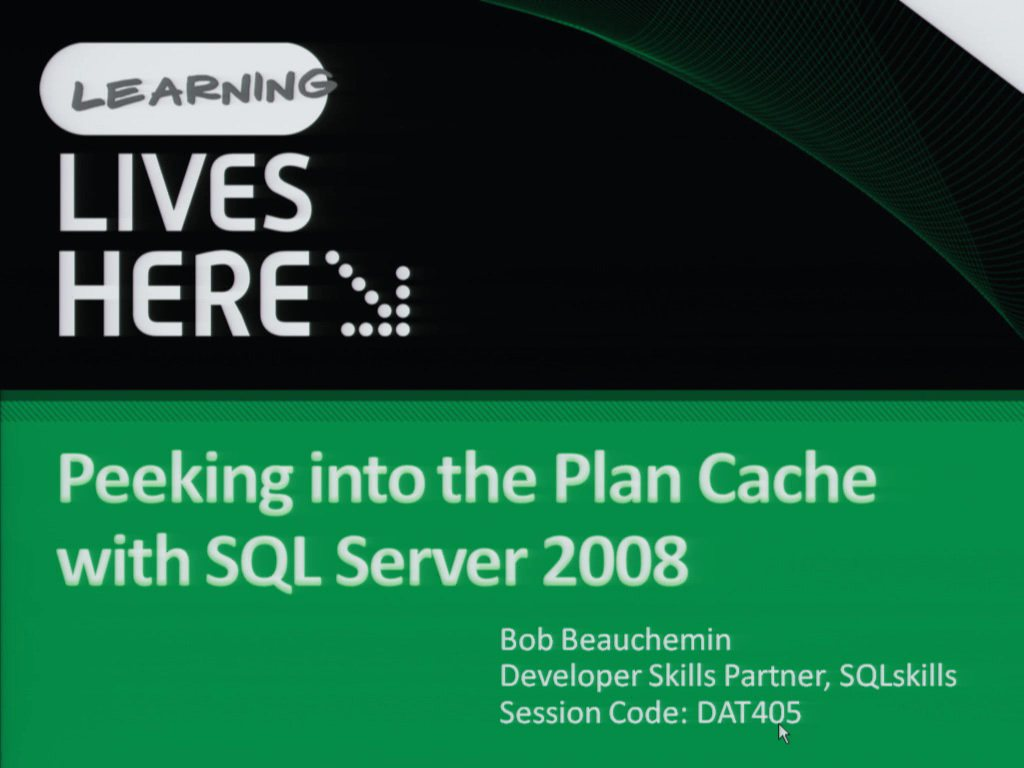 Analysing Performance Trends and Peeking into the Plan Cache with Microsoft SQL Server 2008