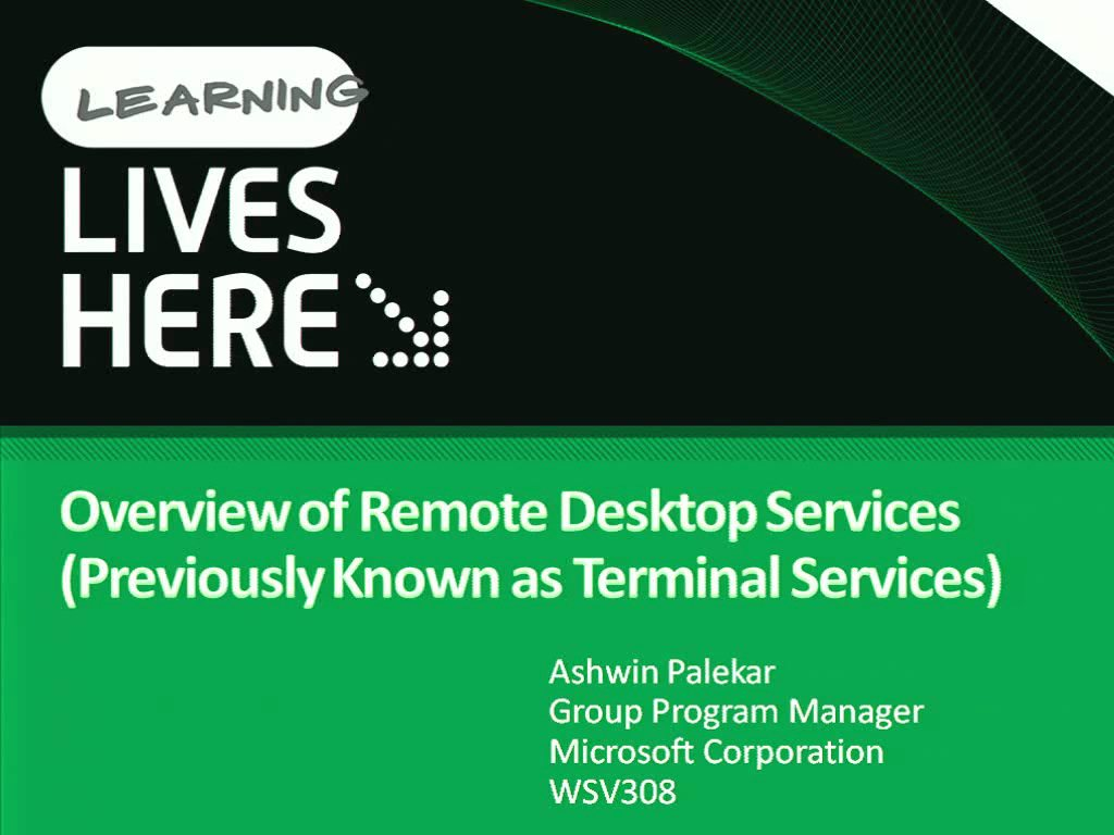 Overview of Remote Desktop Services (Previously Known as Terminal Services)