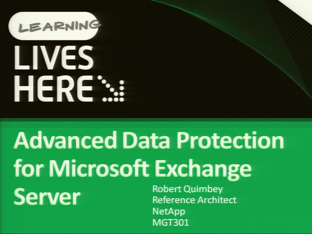 Advanced Data Protection for Microsoft Exchange Server