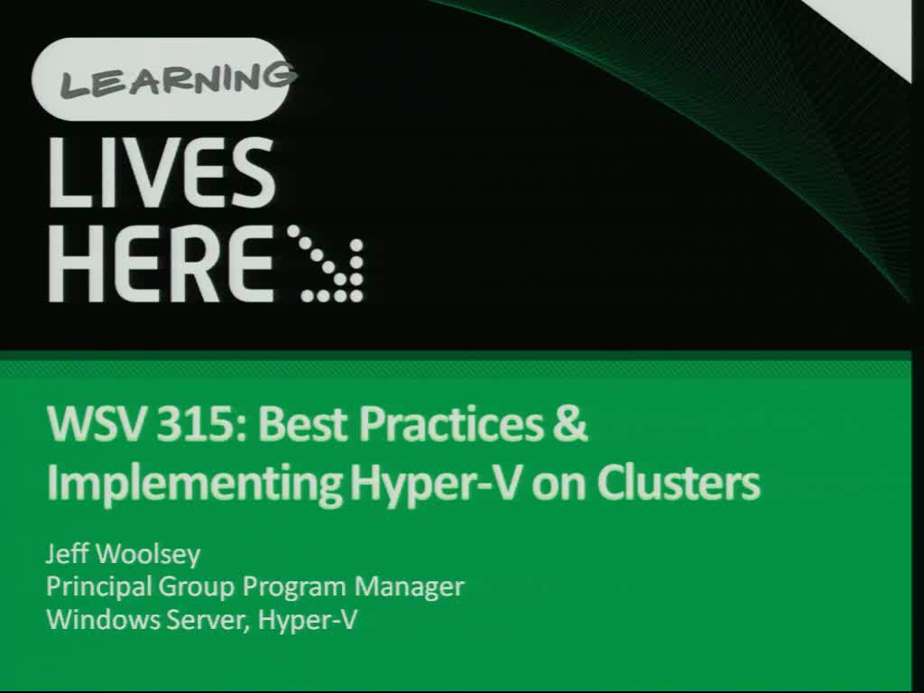 Implementing Hyper-V on Clusters (High Availability)
