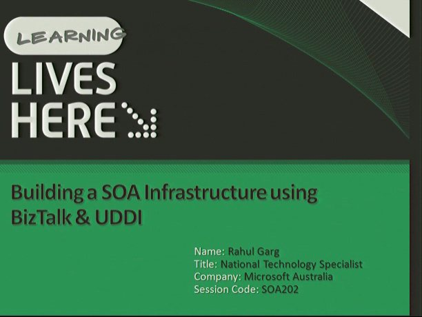 Building a SOA Infrastructure using BizTalk & UDDI