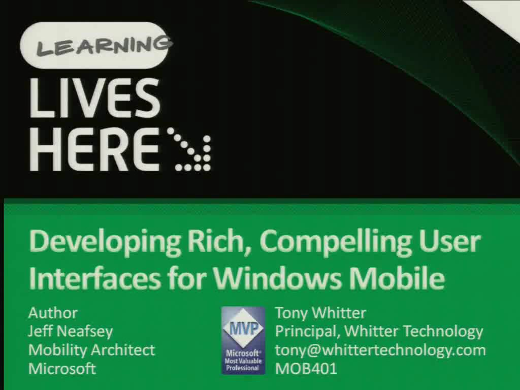 Developing Rich, Compelling User Interfaces for Windows Mobile