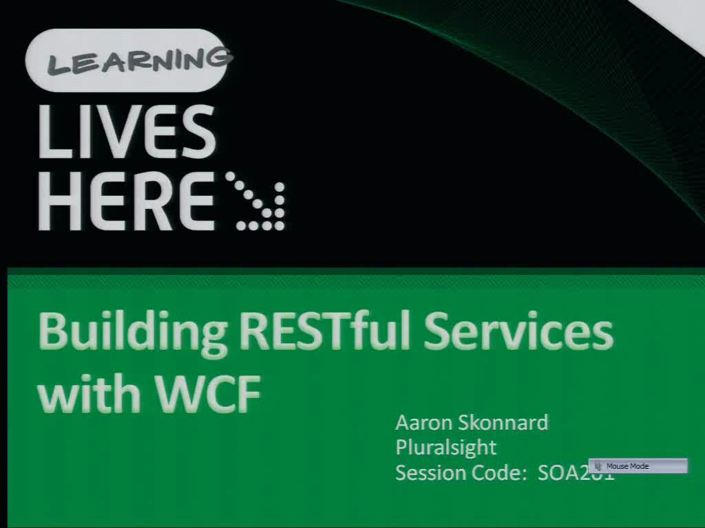 Building RESTful Services with WCF