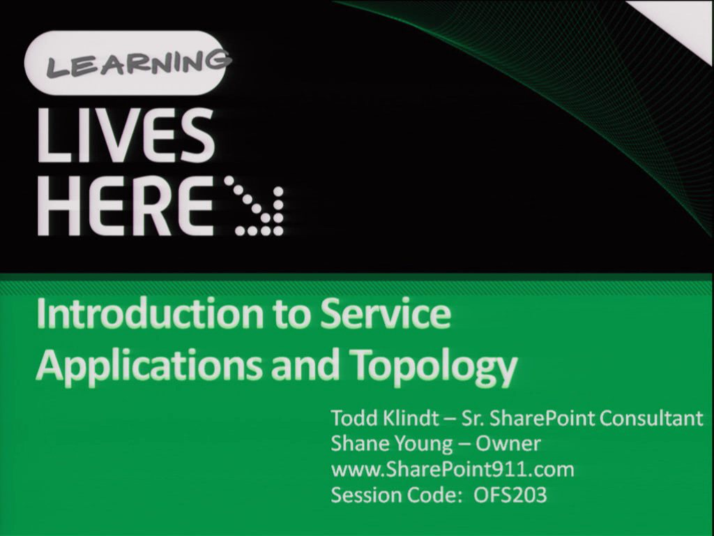 Introduction to Service Applications and Topology in Microsoft SharePoint Server 2010