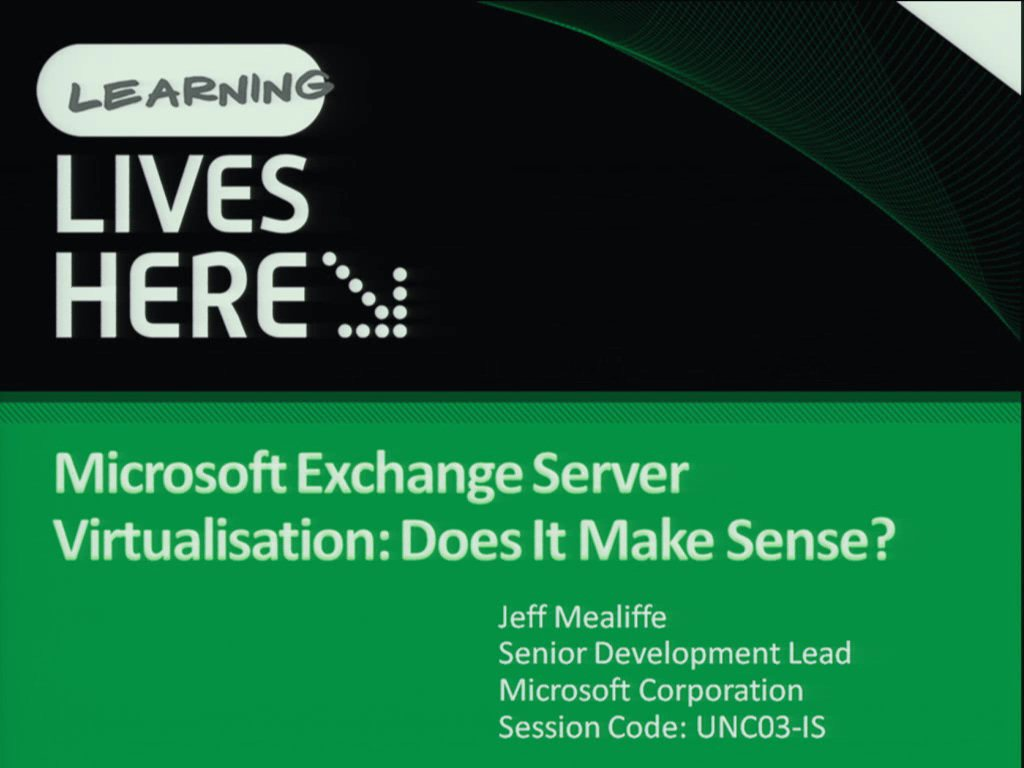 Microsoft Exchange Server Virtualisation: Does It Make Sense?