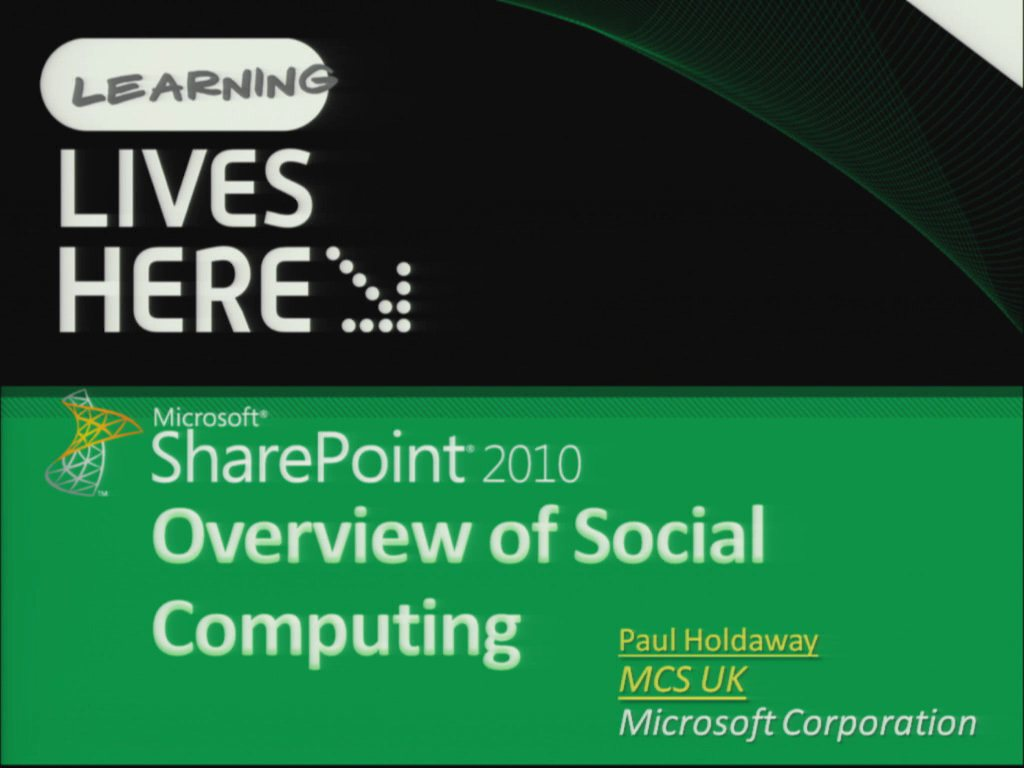 Overview of Social Computing in SharePoint 2010