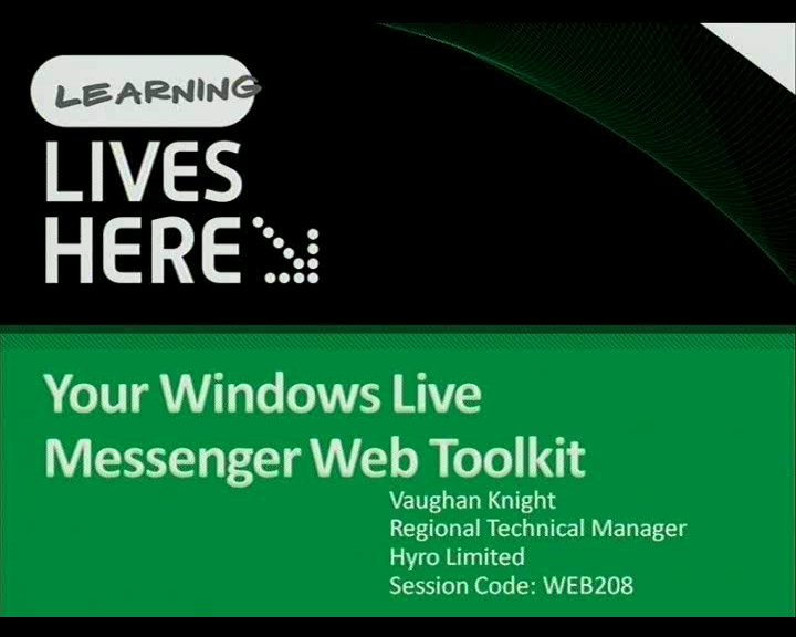 Your Windows Live Messenger Web Toolkit
