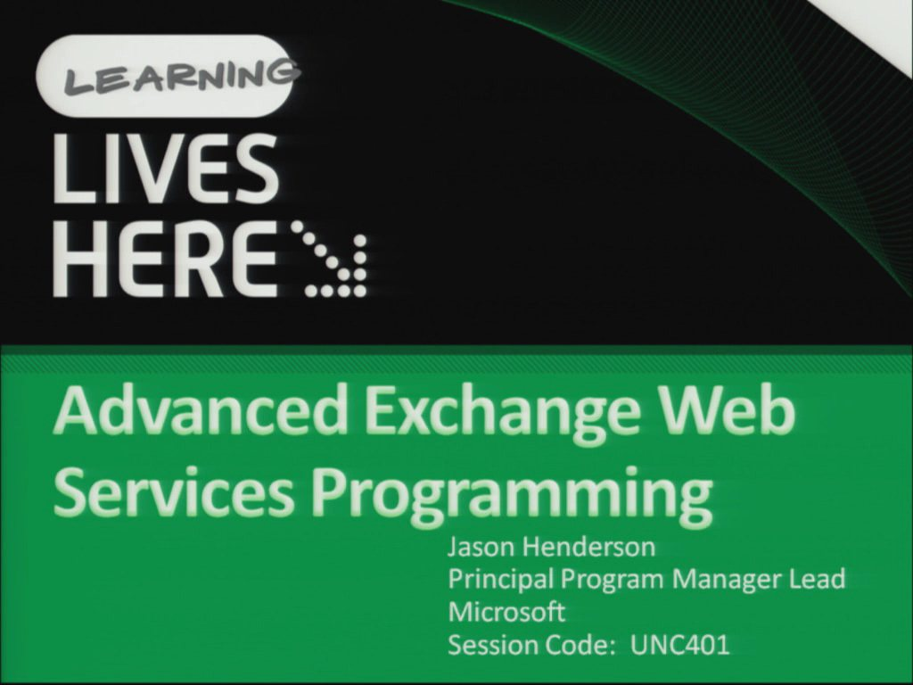 Advanced Exchange Web Services Programming