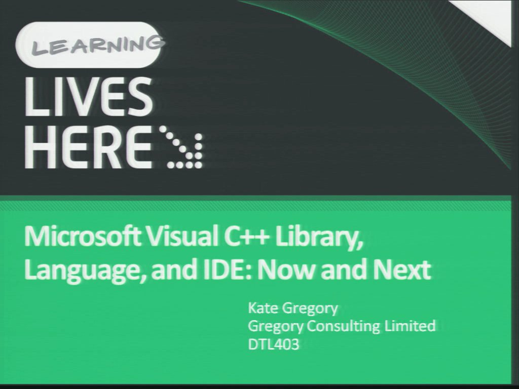 Microsoft Visual C++ Library, Language, and IDE: Now and Next