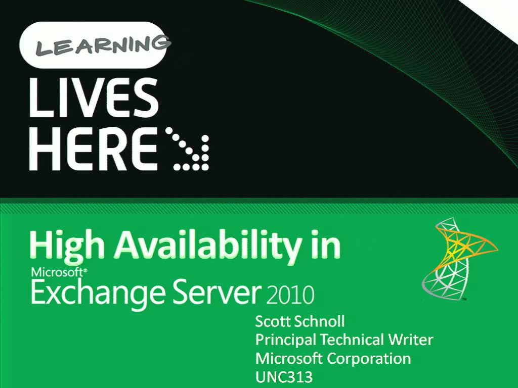 High Availability in Microsoft Exchange Server 2010
