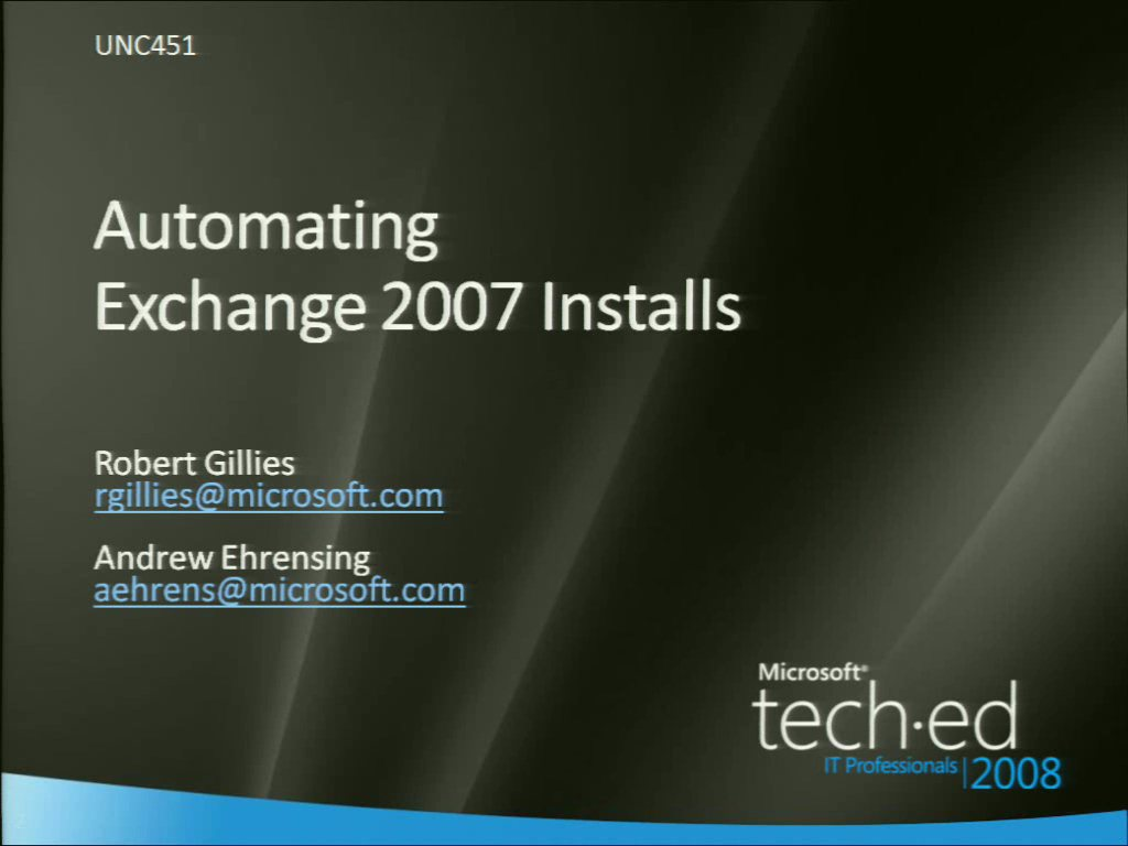 Automating Microsoft Exchange Server 2007 Deployments Using Windows PowerShell