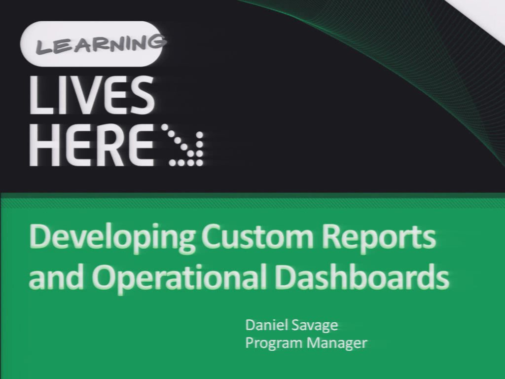 Developing Custom Reports and Operational Dashboards with Microsoft System Center Operations Manager 2007