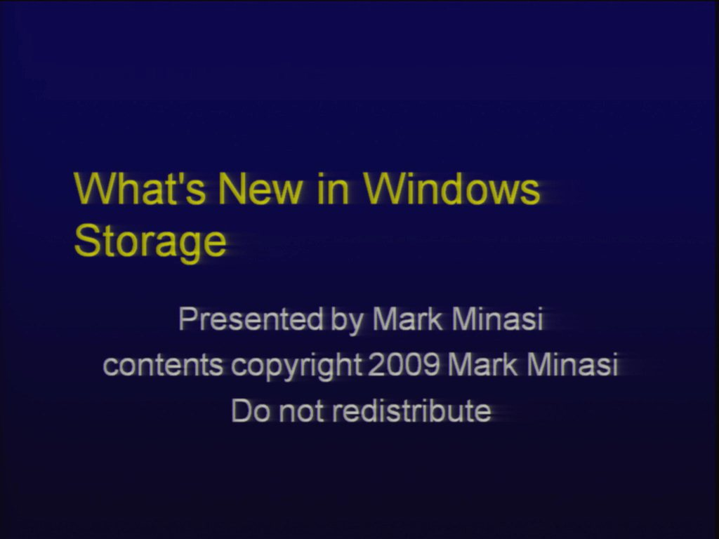 How Windows Storage Is Changing: Everything's Going VHD!