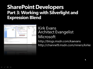 SharePoint for Developers Part 3 - Expression Blend and Silverlight