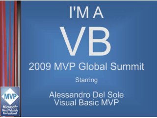 """I'm a VB"" Interview: Alessandro Del Sole, Visual Basic MVP"