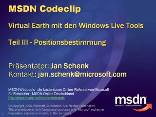 VE Codeclip - Virtual Earth Positionsbestimmung