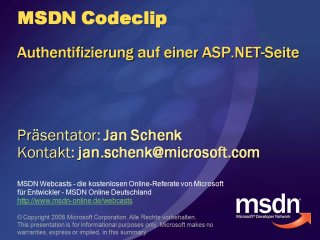 ASP.NET - Authentifizierungmechanismus per Controls